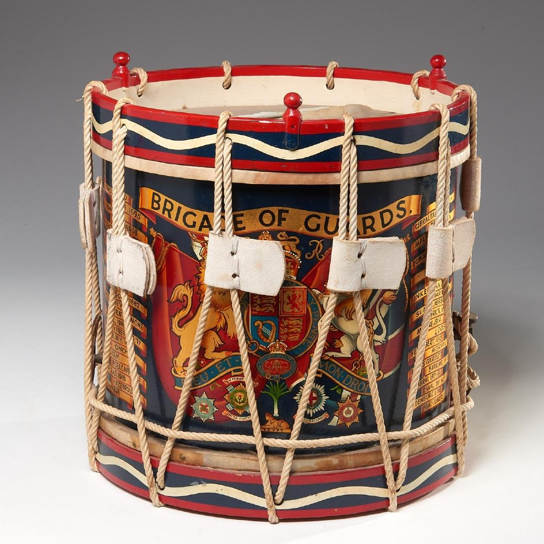 British Brigade of Guards ceremonial drum