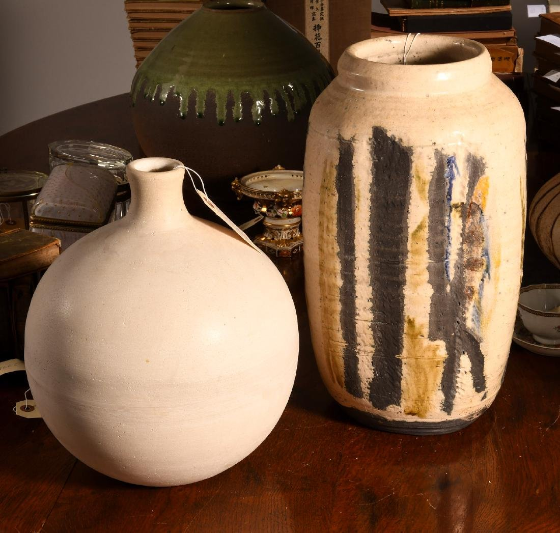 (2) Studio pottery vessels