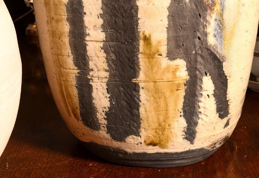 (2) Studio pottery vessels - 4