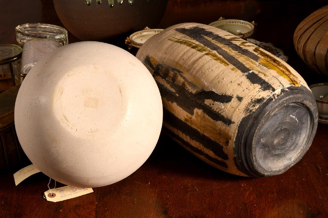 (2) Studio pottery vessels - 6