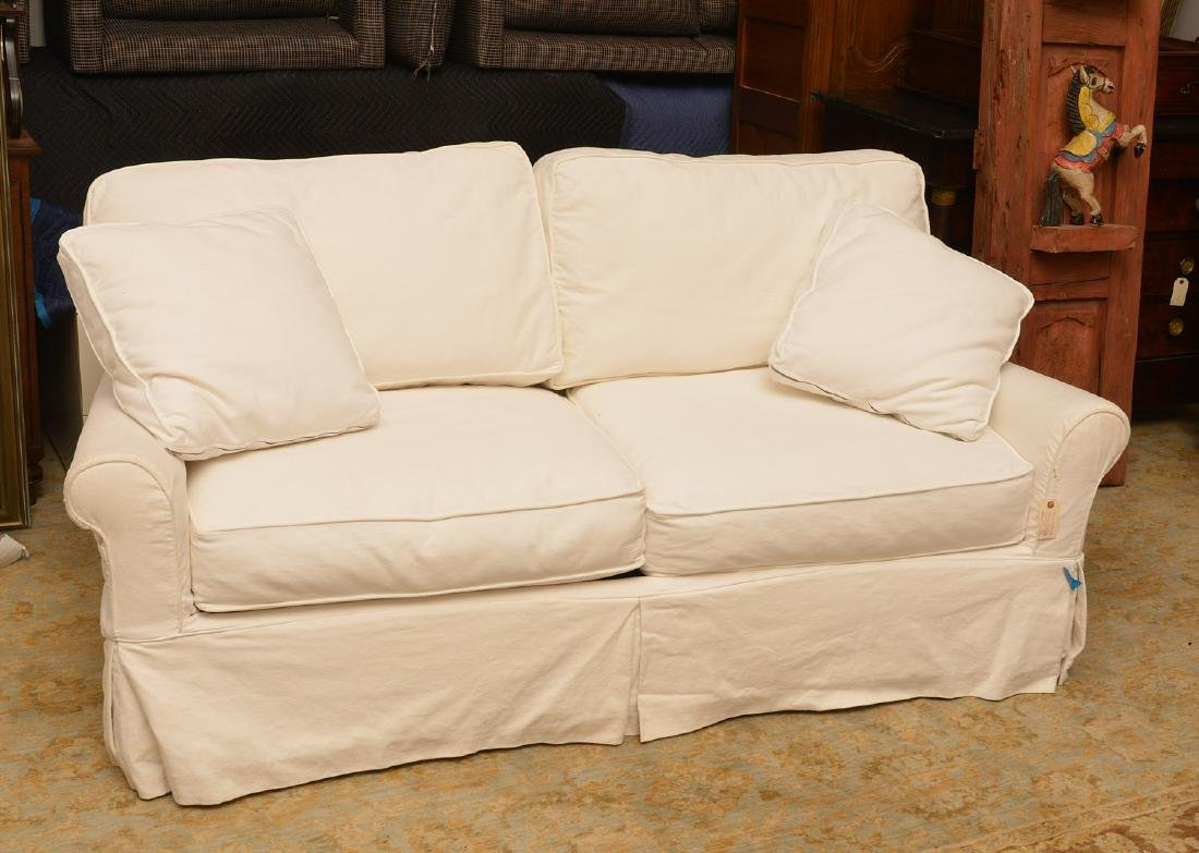 Crate & Barrel white sofa bed
