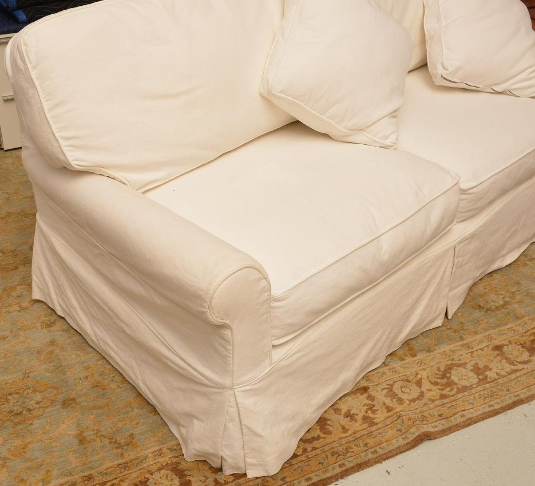 Crate & Barrel white sofa bed - 2