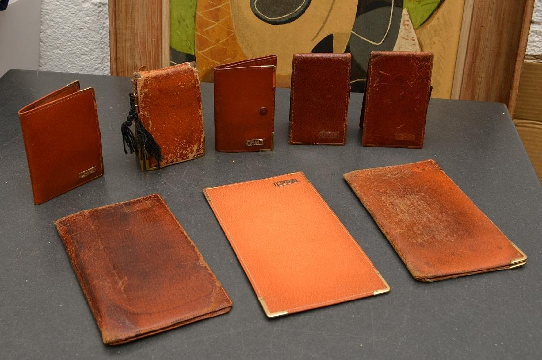 (8) Leather accessories incl. Asprey of London