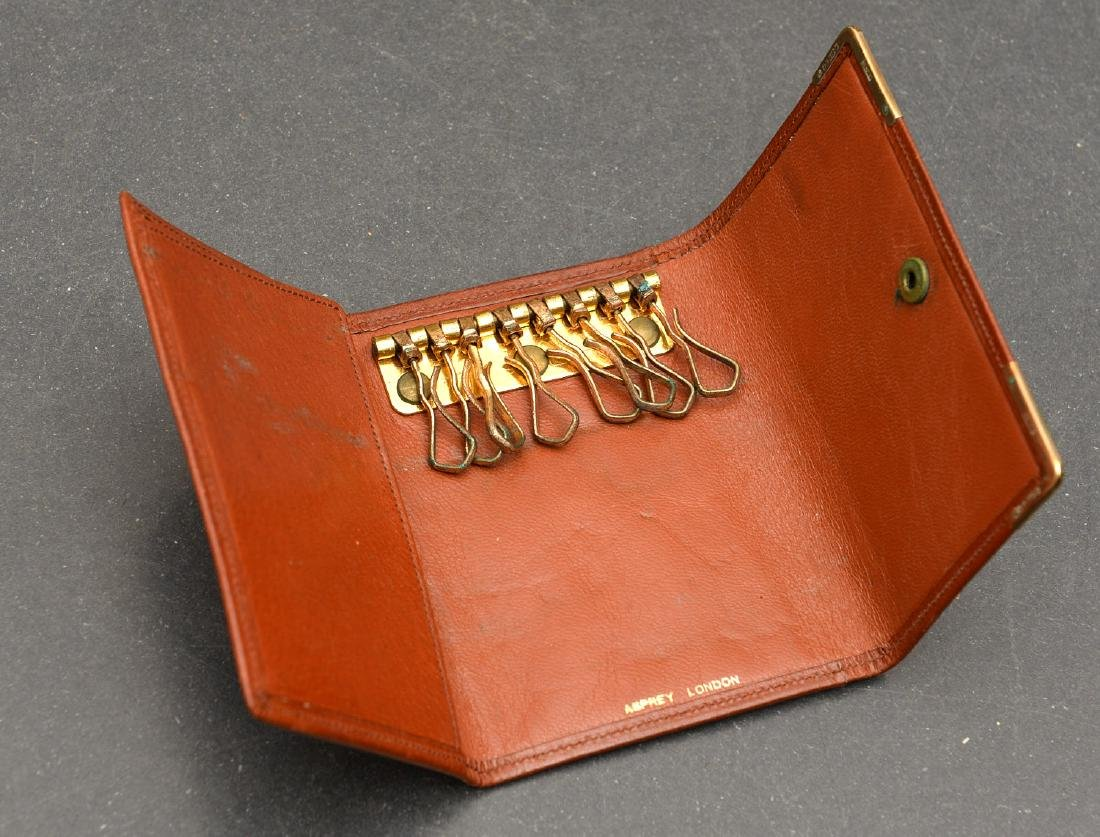 (8) Leather accessories incl. Asprey of London - 6