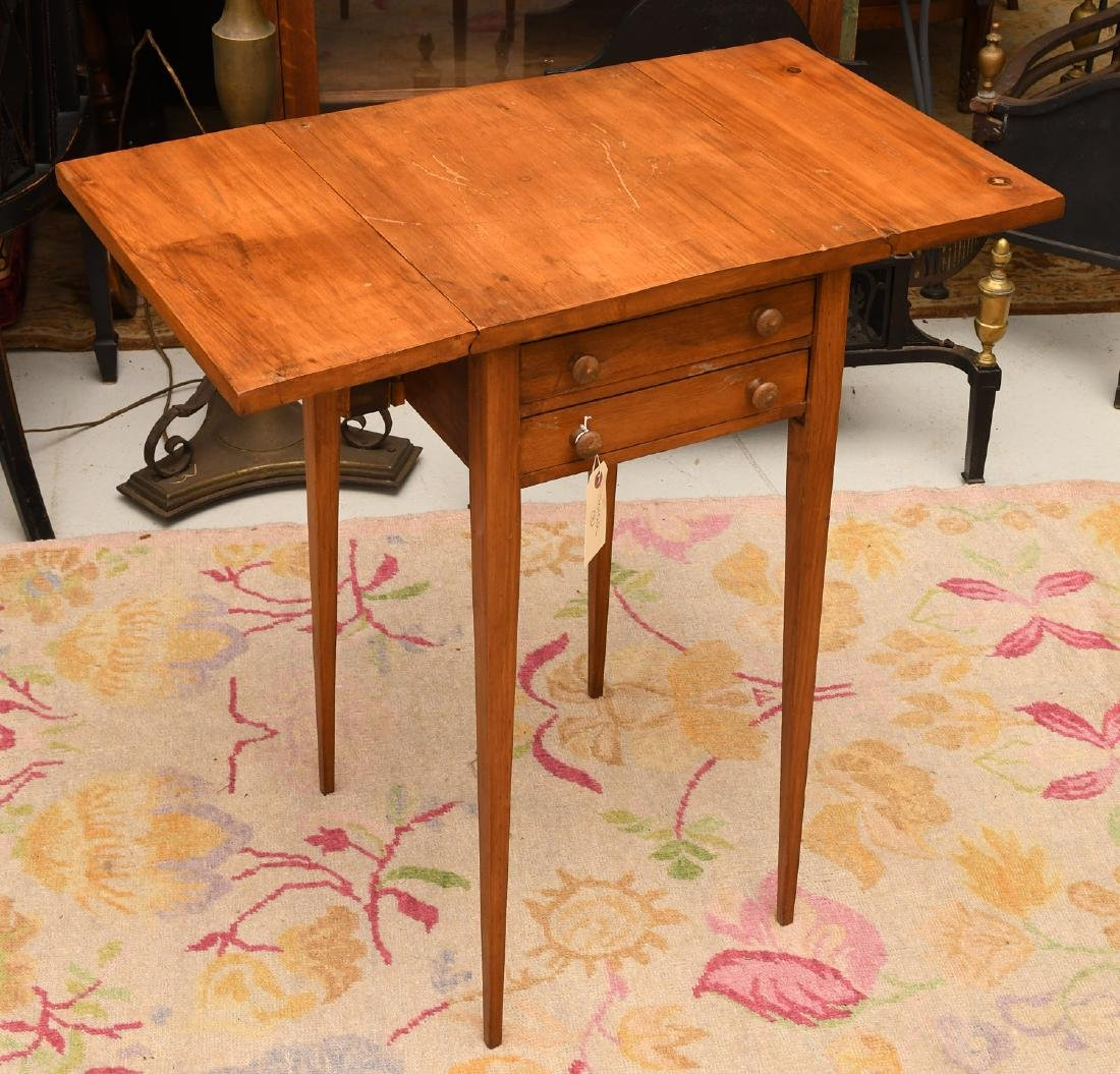 Sheraton style fruitwood pembroke table - 3