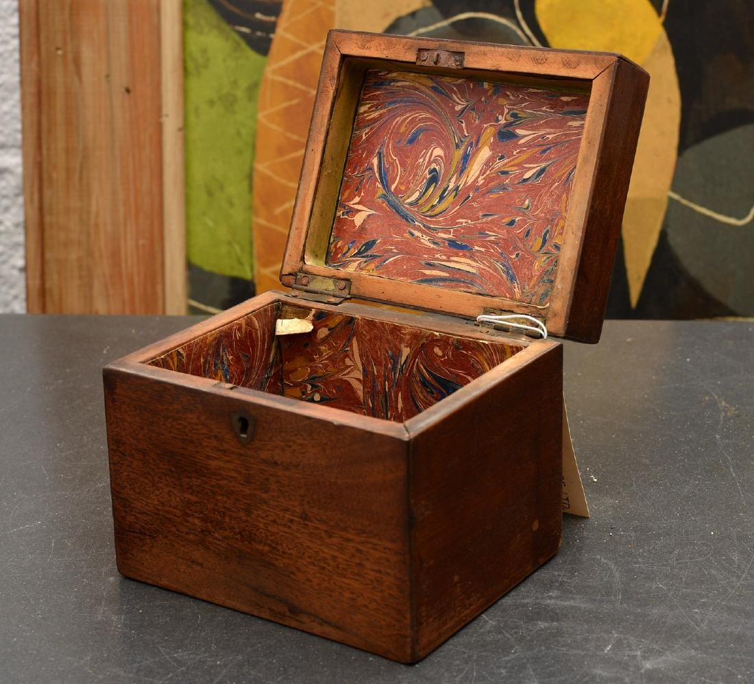 English mahogany tea caddy - 2