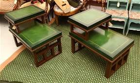 Pair Tommi Parzinger style end tables