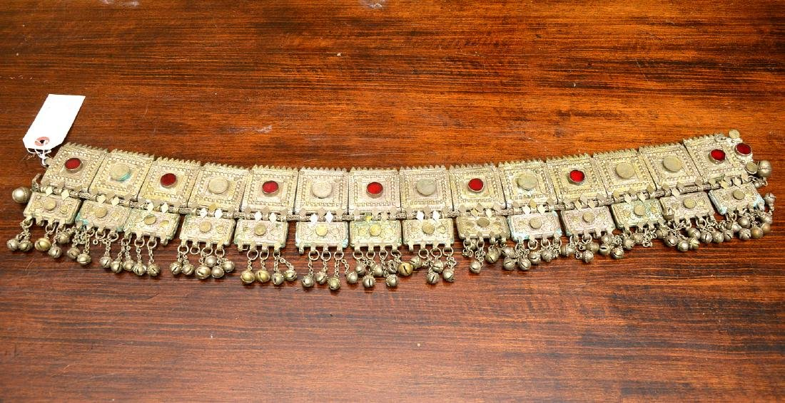 Indian white metal decorative belt