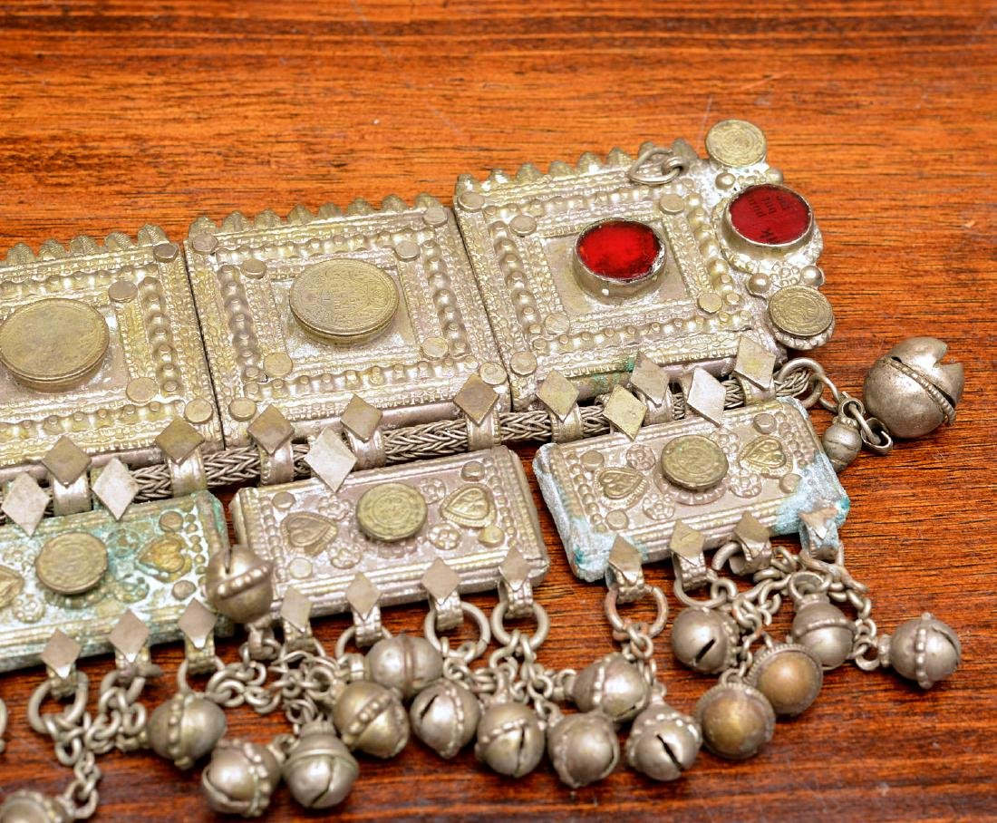 Indian white metal decorative belt - 2