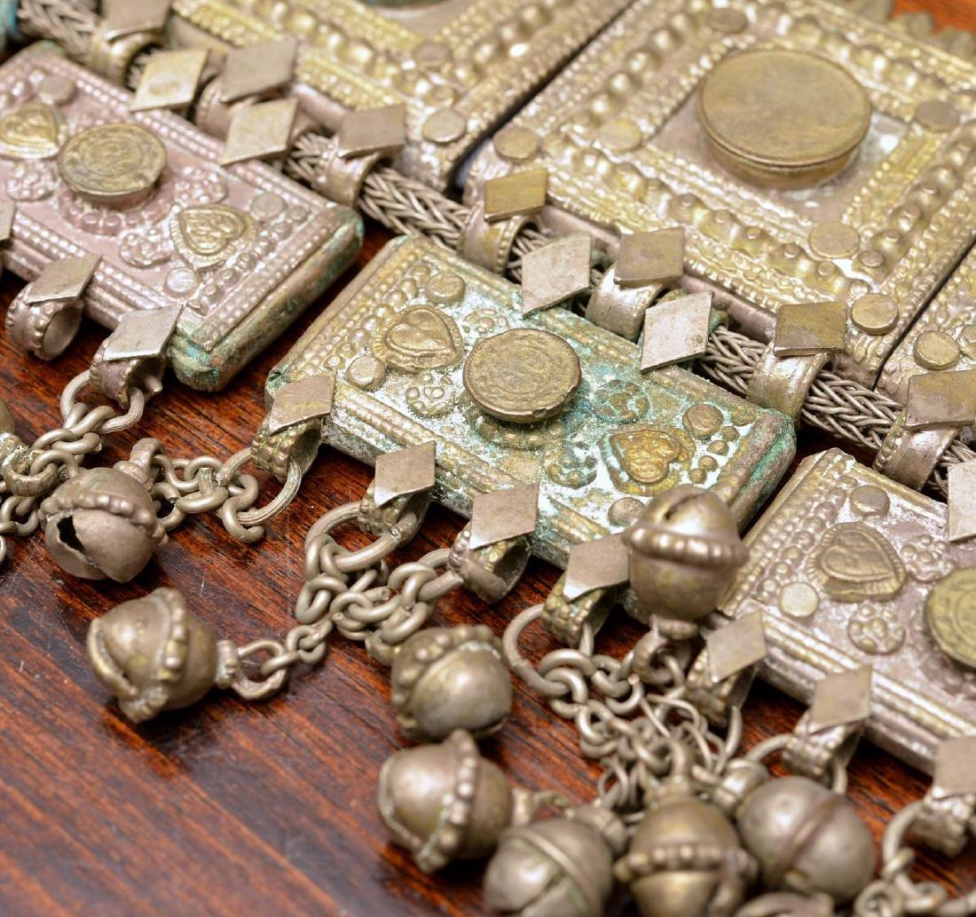 Indian white metal decorative belt - 3