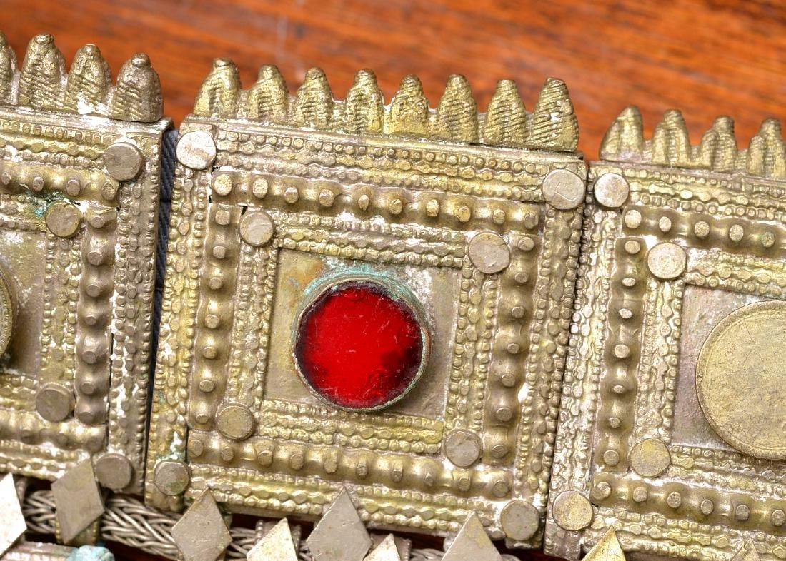 Indian white metal decorative belt - 4