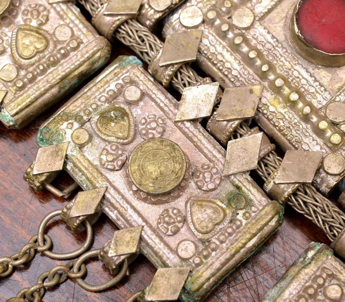 Indian white metal decorative belt - 5
