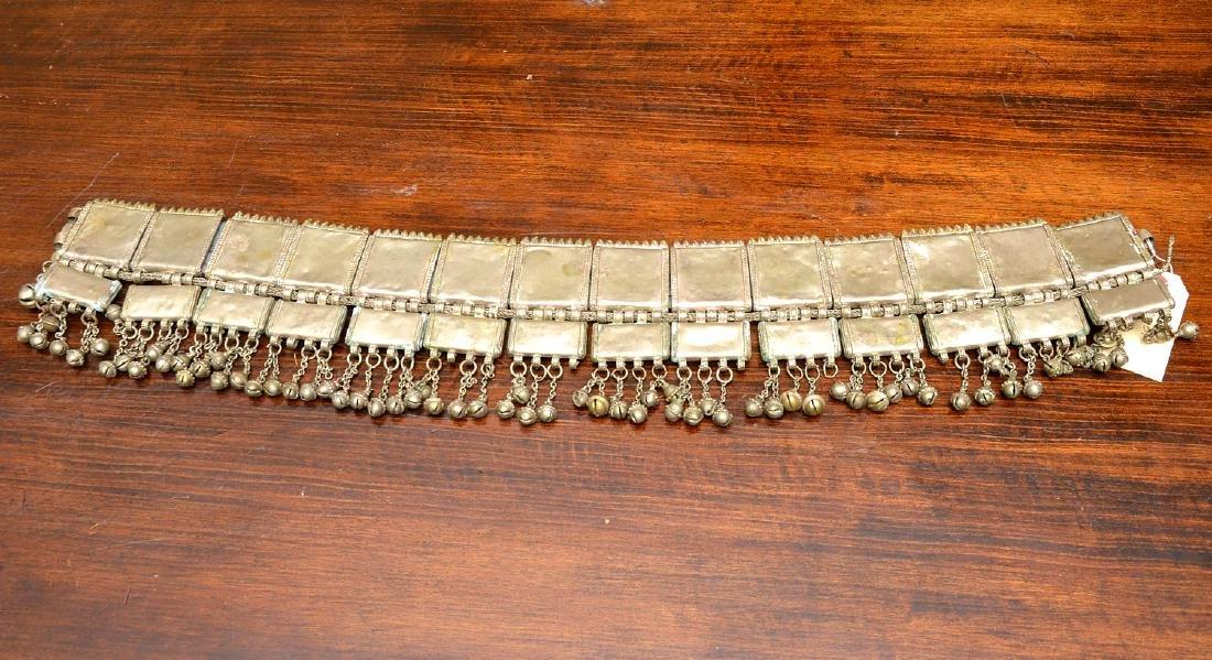 Indian white metal decorative belt - 6