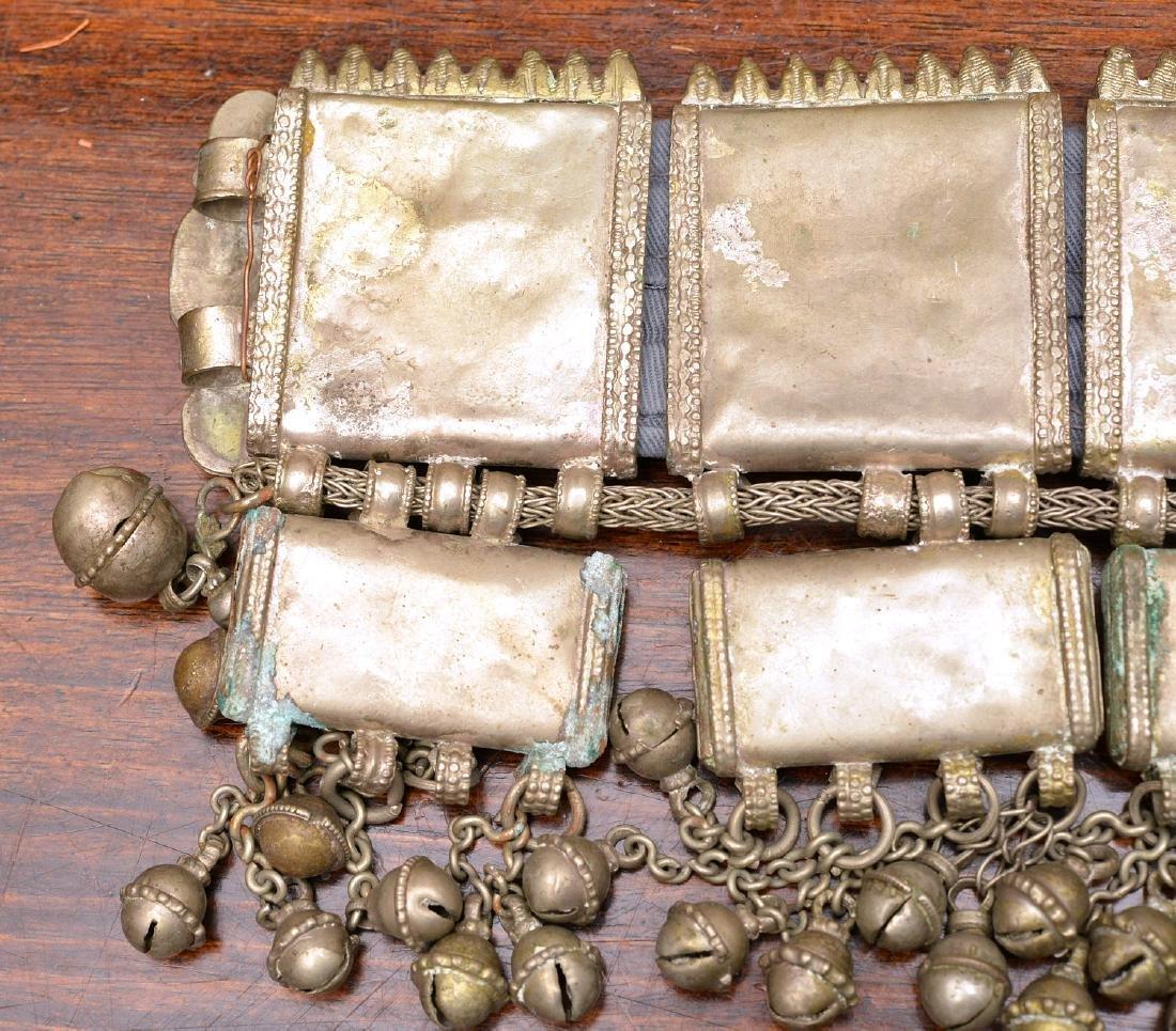 Indian white metal decorative belt - 7