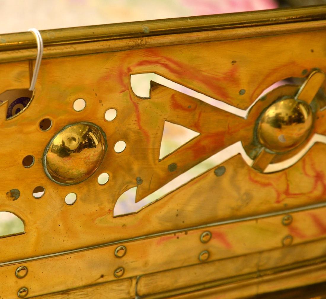 Aesthetic style brass fire fender - 4