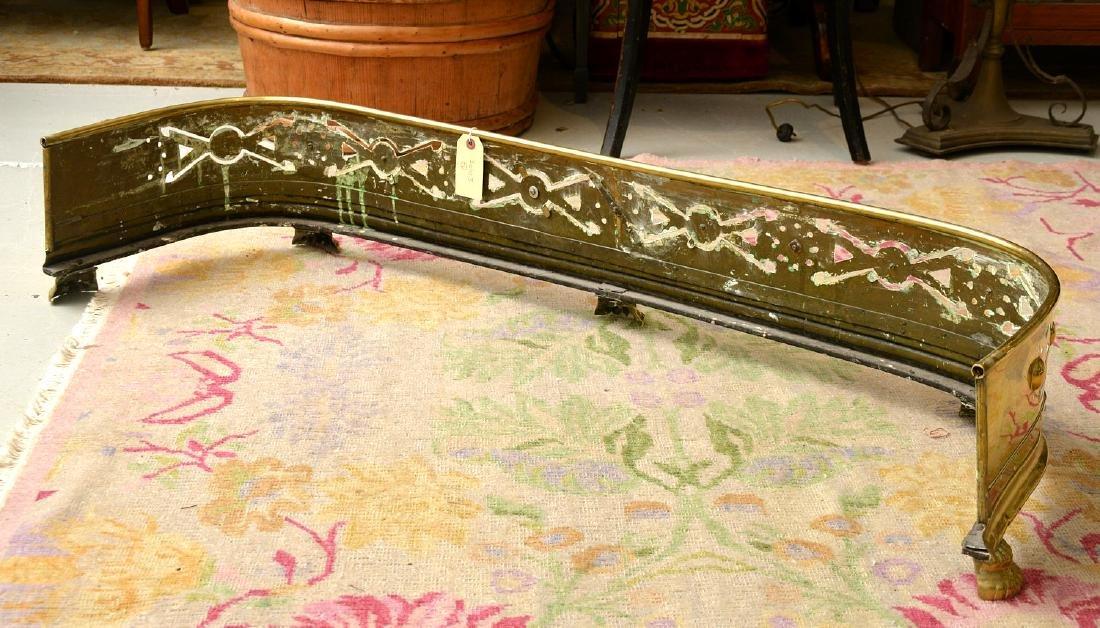 Aesthetic style brass fire fender - 6