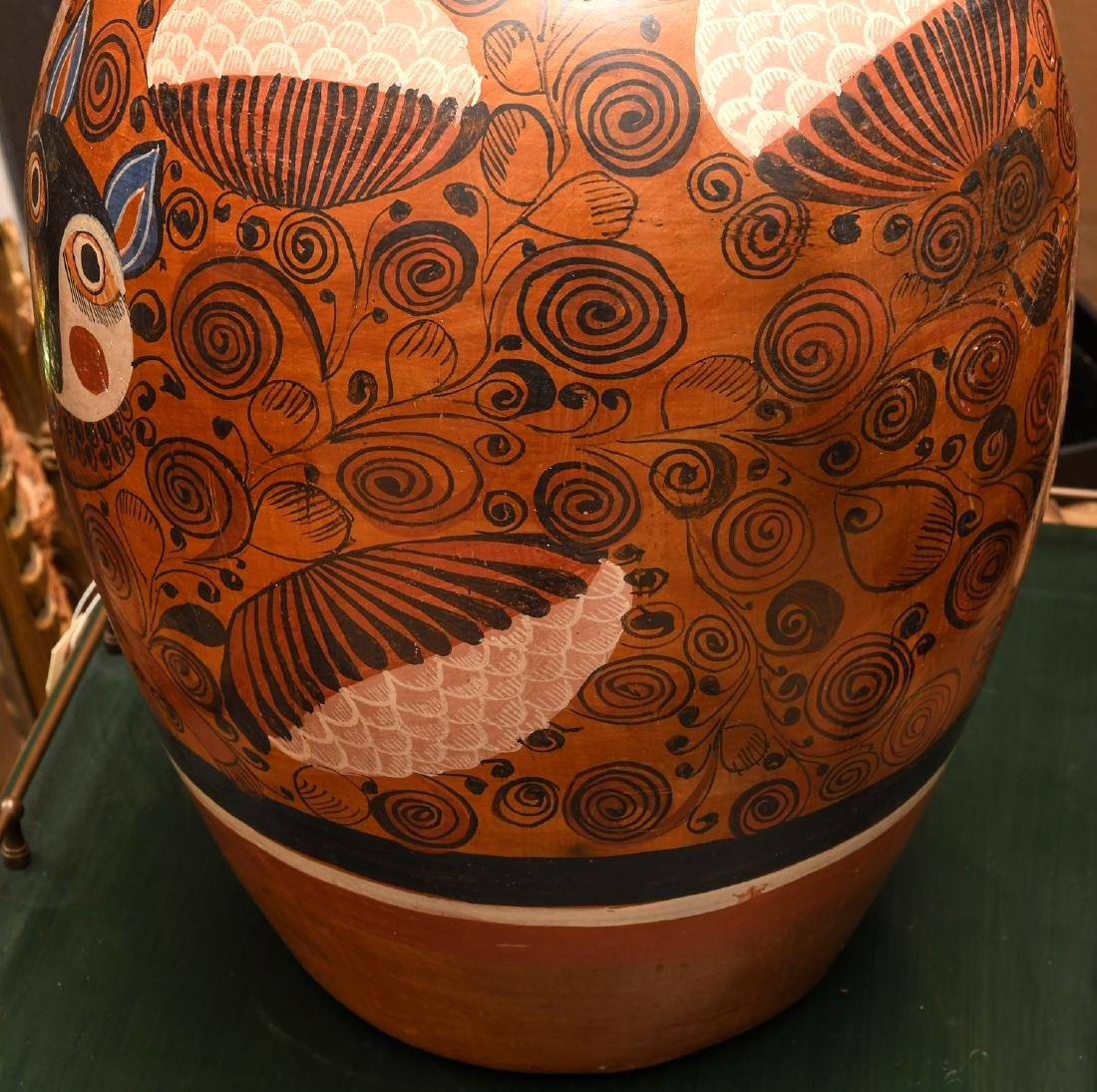 Mexican burnished clay Folk Art vase - 3