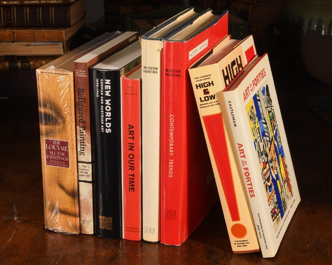 BOOKS: (8) Vols Contemporary Art & The Louvre