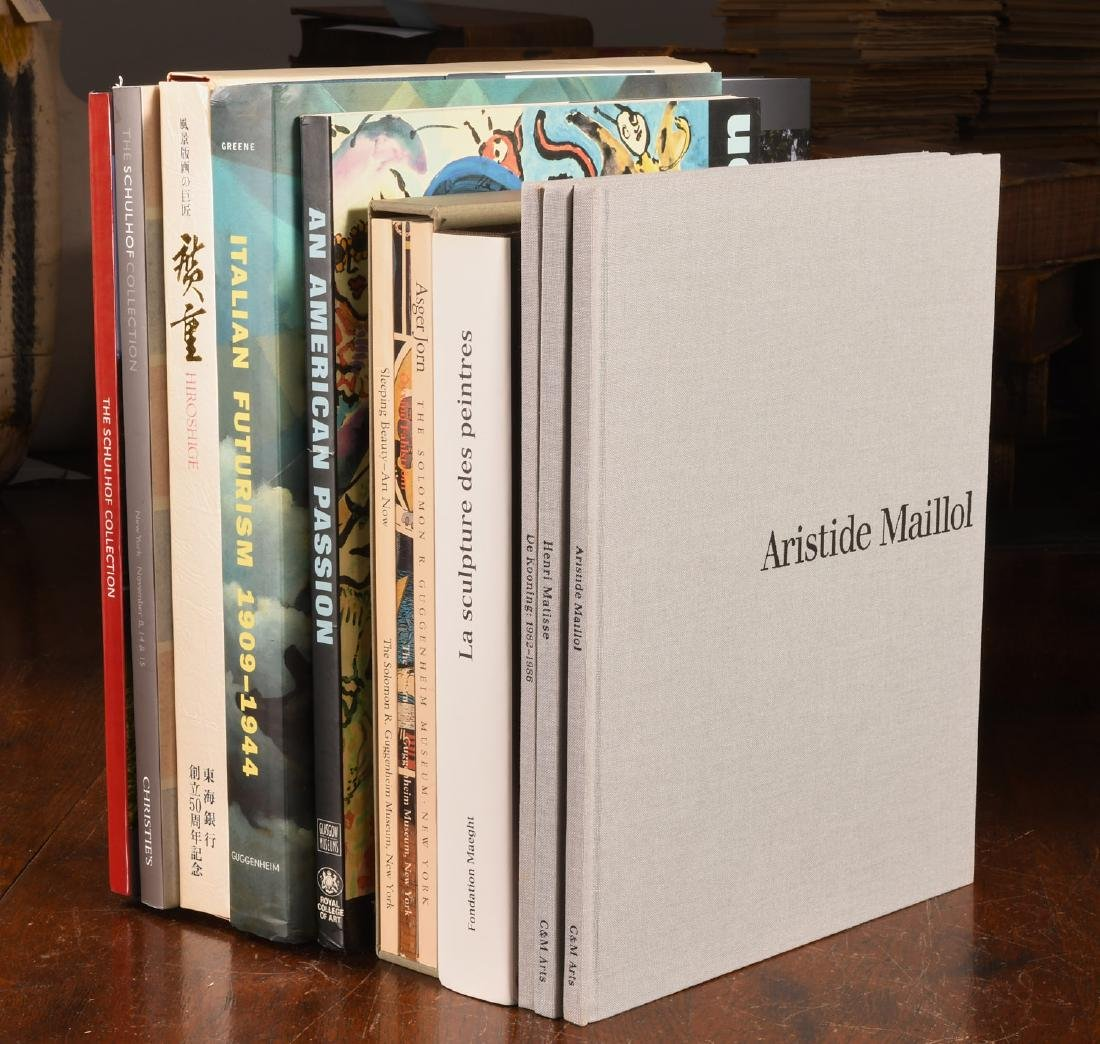 BOOKS: (10) Vols Art, Artists, Schulhof Collection