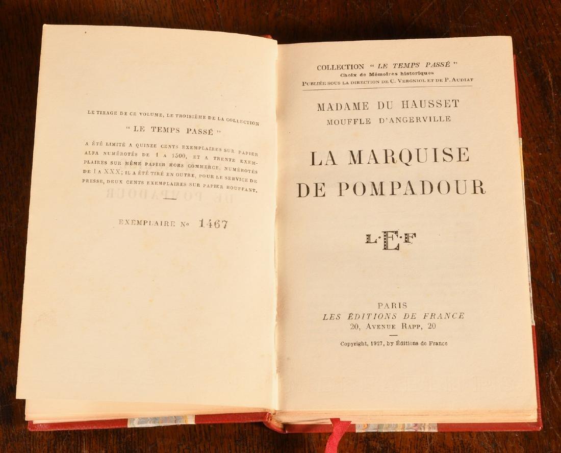 BOOKS: (9) Vols Marie Antoinette Mme Pompadour - 10