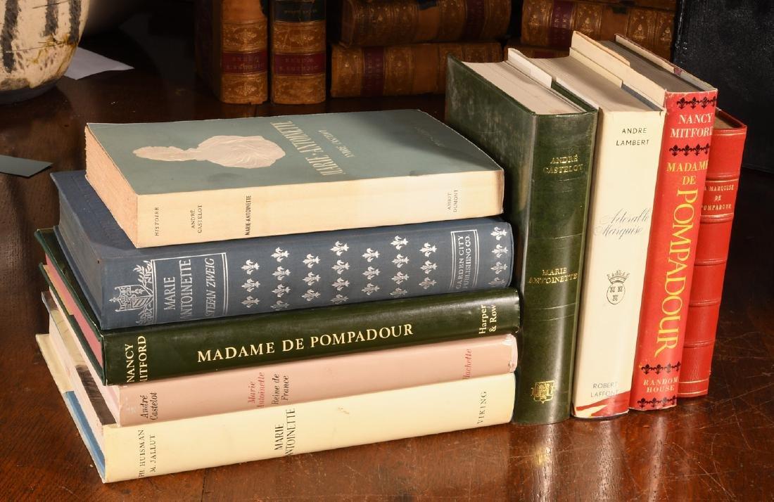 BOOKS: (9) Vols Marie Antoinette Mme Pompadour