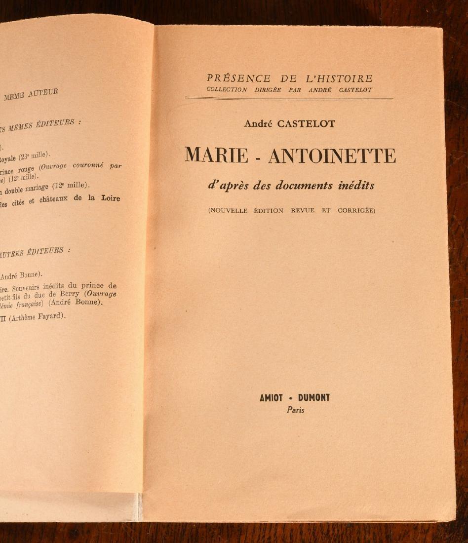 BOOKS: (9) Vols Marie Antoinette Mme Pompadour - 8