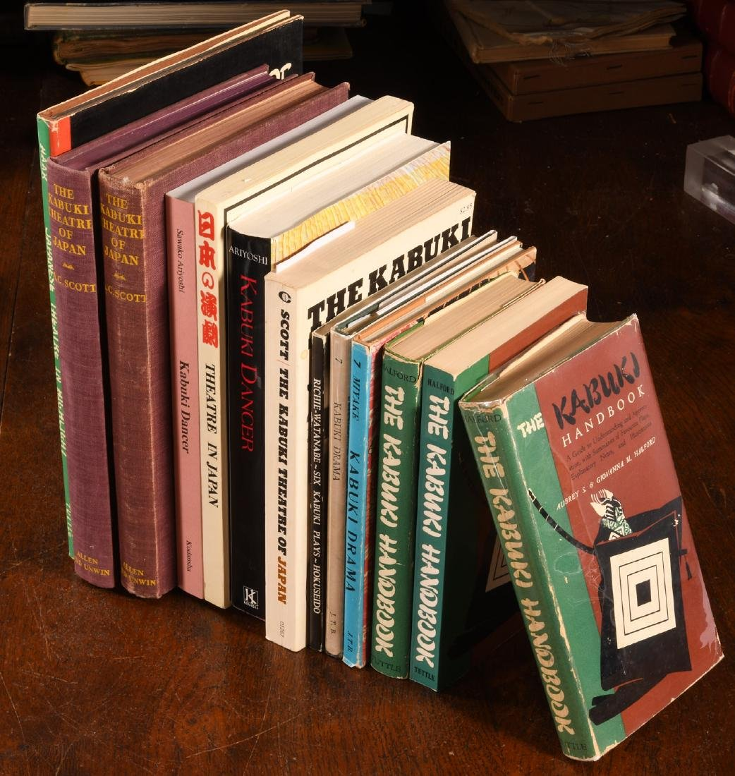 BOOKS: (13) Vols Japanese Kabuki Theater
