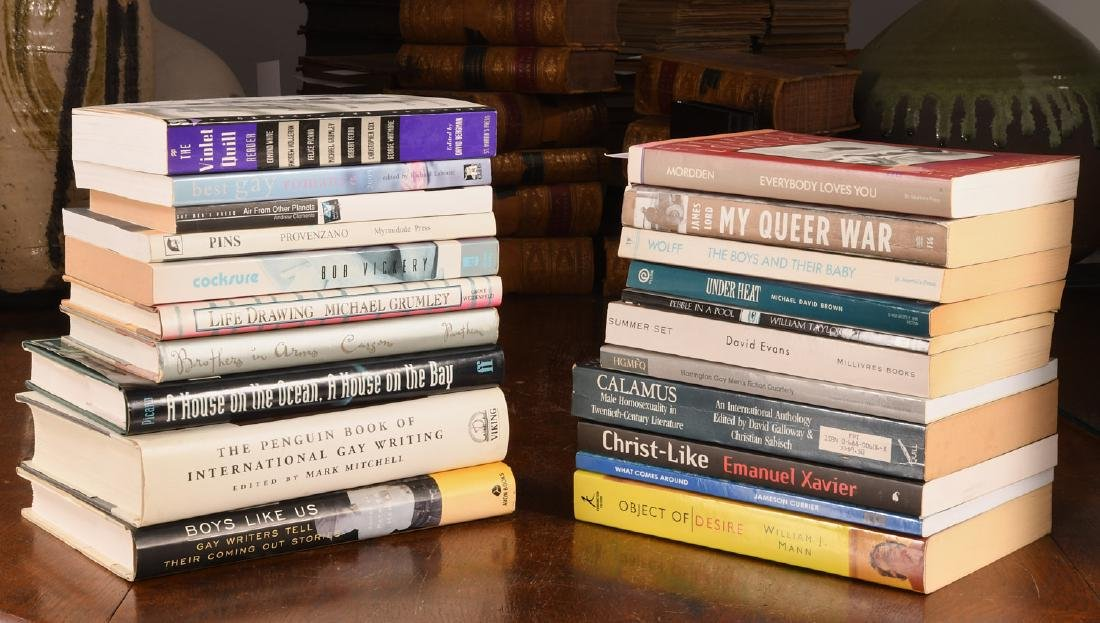 BOOKS: (21) Vols Gay Fiction & Literature
