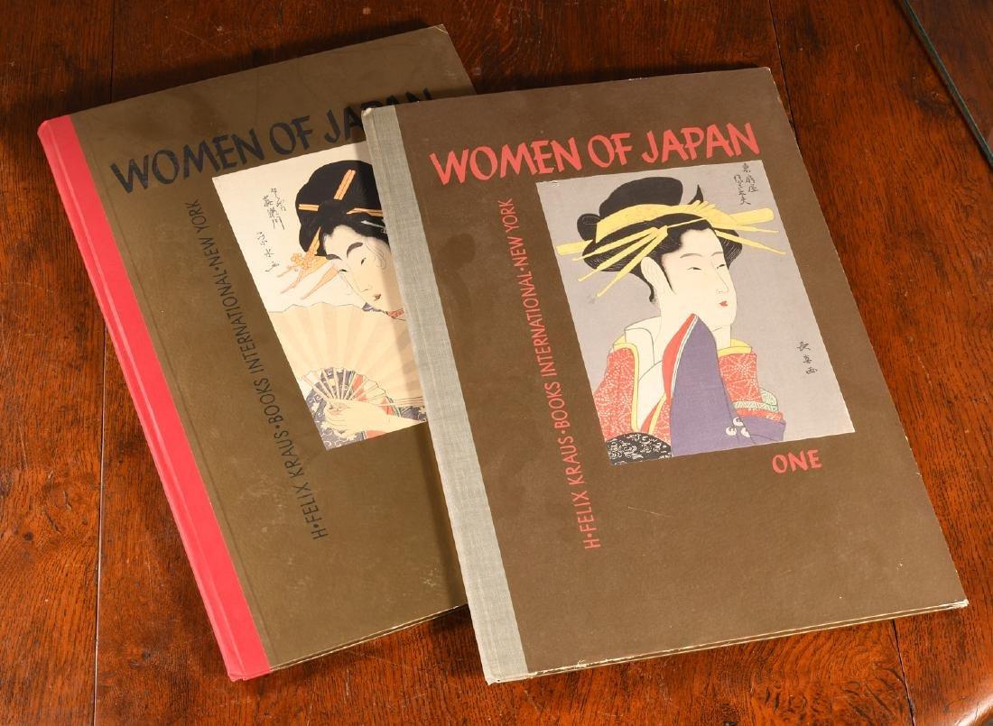 BOOKS: (2) Vols Women of Japan 1950 w/Woodcuts