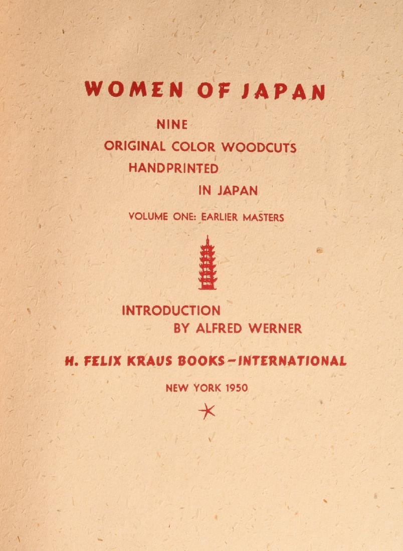BOOKS: (2) Vols Women of Japan 1950 w/Woodcuts - 3