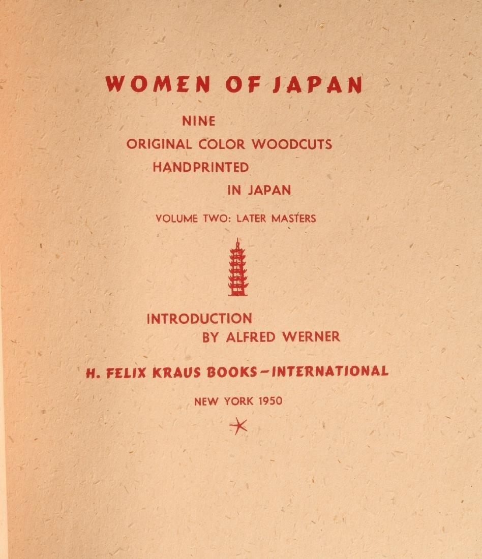 BOOKS: (2) Vols Women of Japan 1950 w/Woodcuts - 7