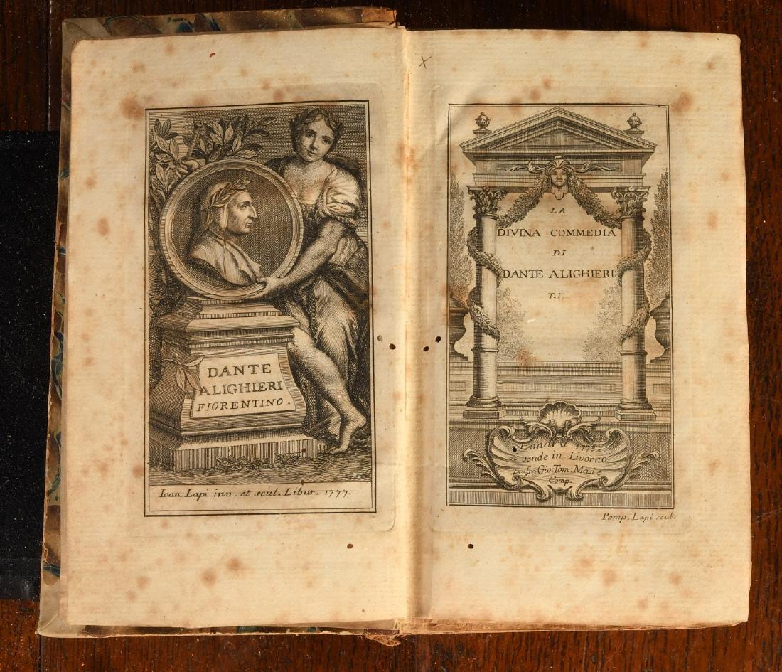 BOOKS: 1778 Dante La Divina Commedia - 3