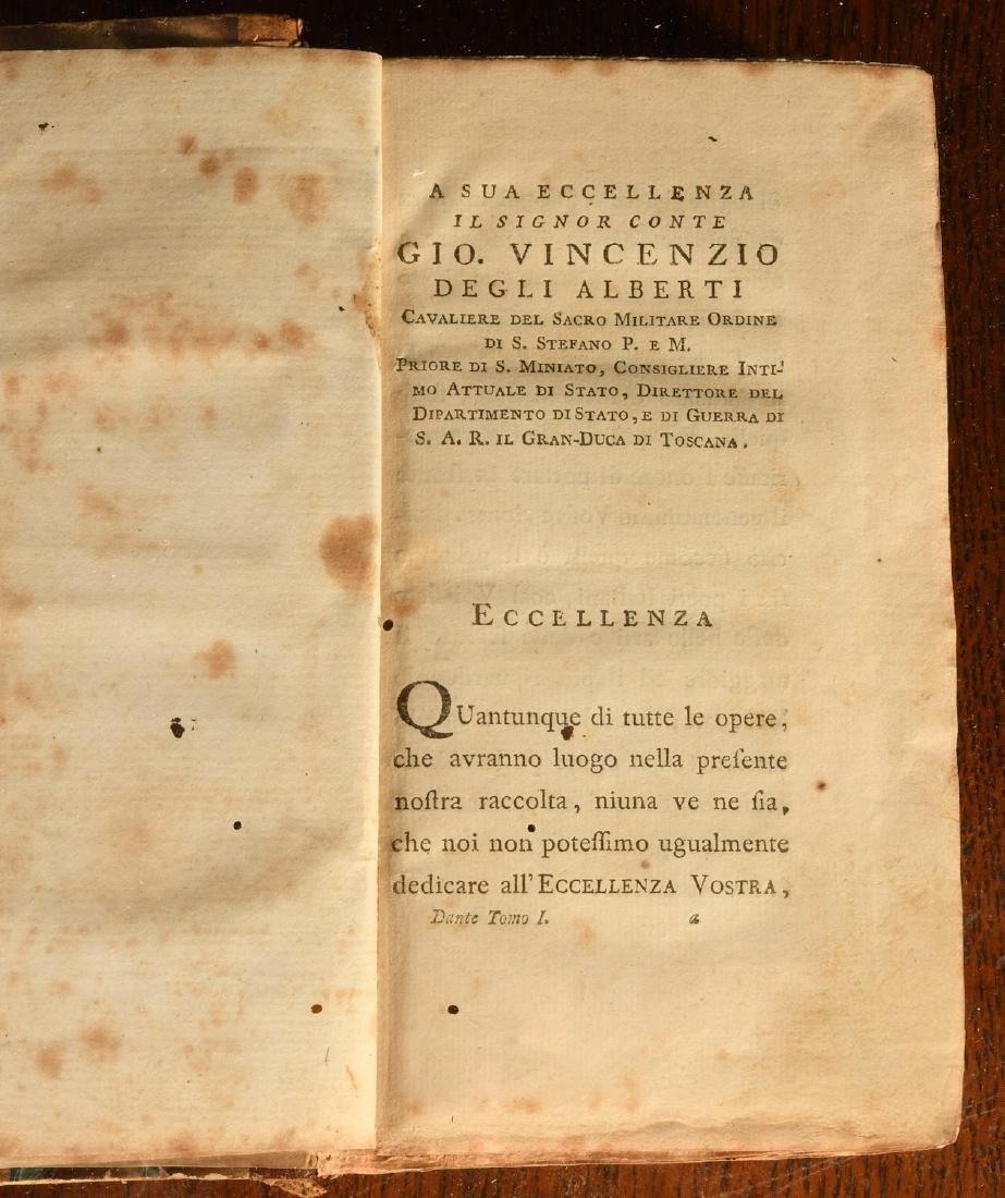 BOOKS: 1778 Dante La Divina Commedia - 4