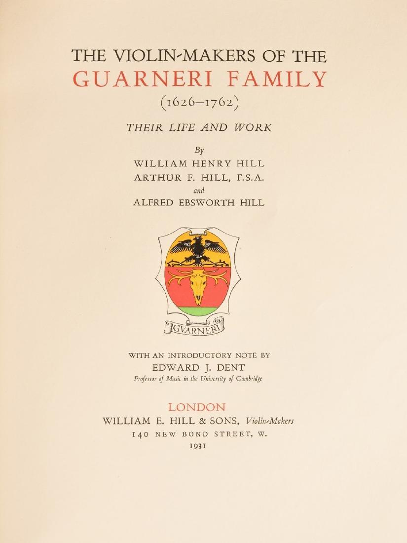 BOOKS: Violin-Makers of the Guarneri Family 1931 - 5
