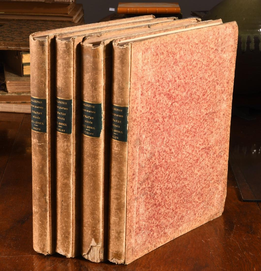 BOOKS: (4) Vols 1800 Complete Music of Haydn Paris
