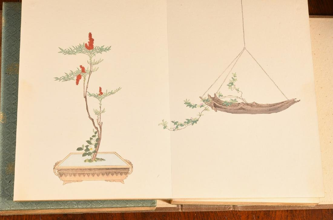 BOOKS: (2) Vols Japanese Ikebana Fine Art Prints - 5