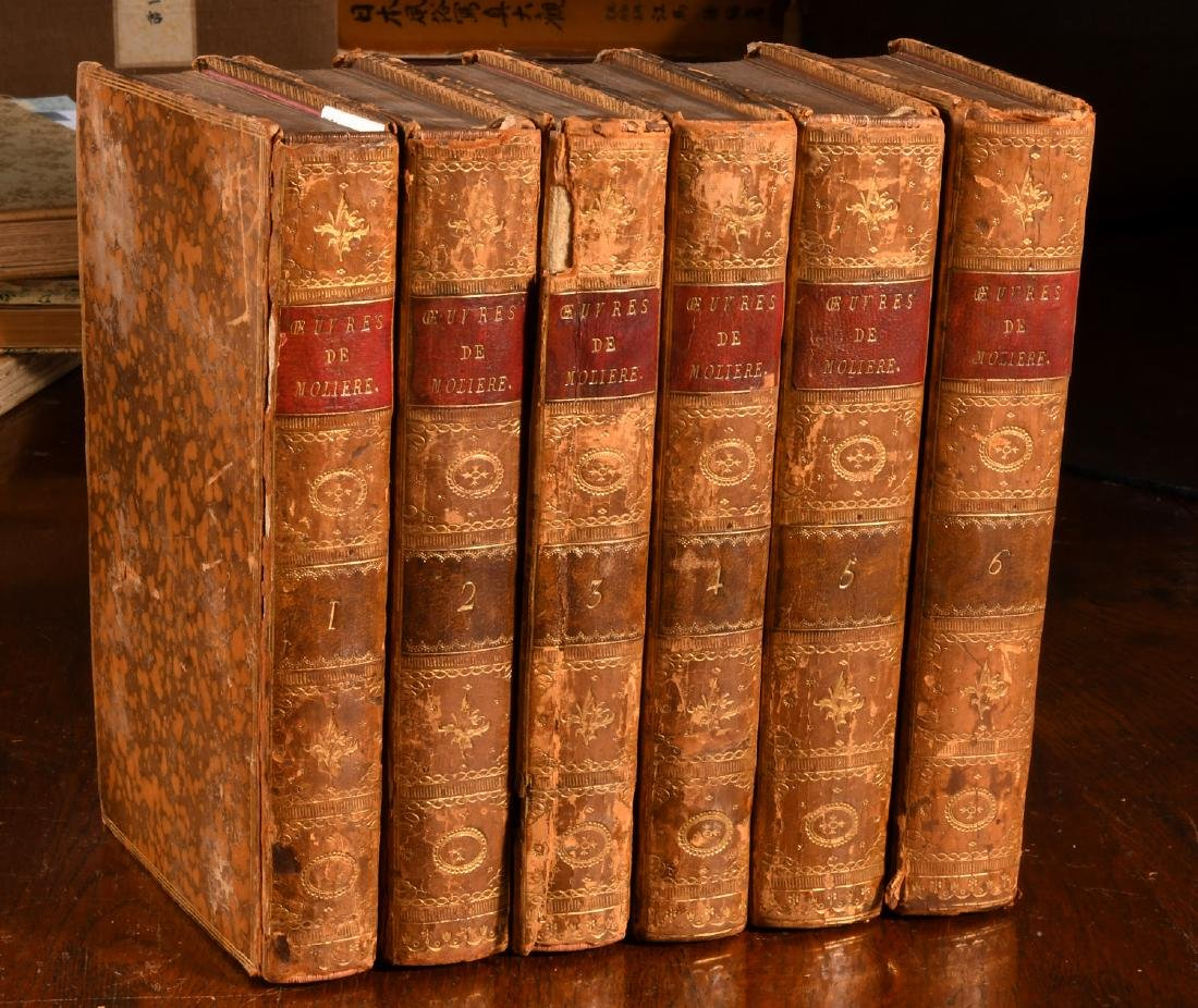 BOOKS: (6) Vols Works of Moliere 1788 French