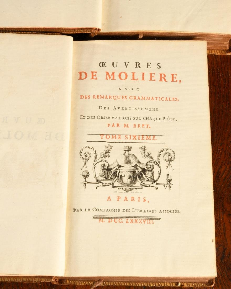 BOOKS: (6) Vols Works of Moliere 1788 French - 5