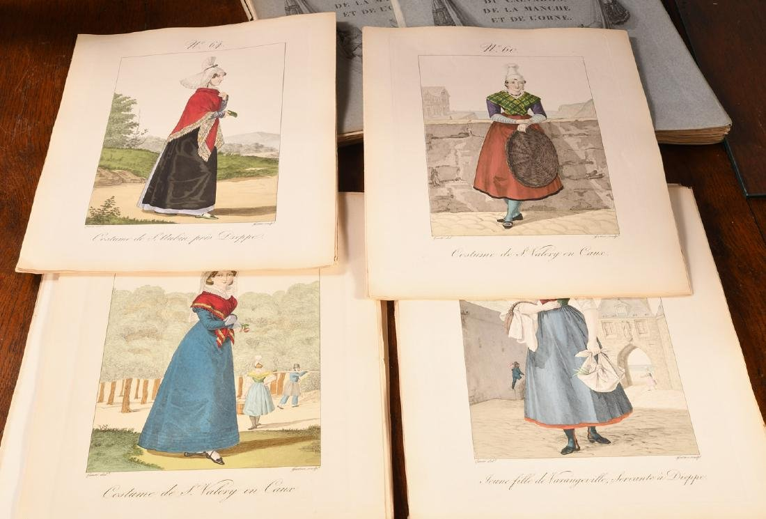 (4) Vols French Costumes Loose Color Plates 1925 - 3