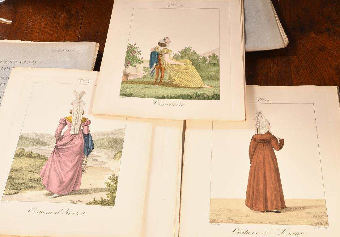 (4) Vols French Costumes Loose Color Plates 1925 - 5