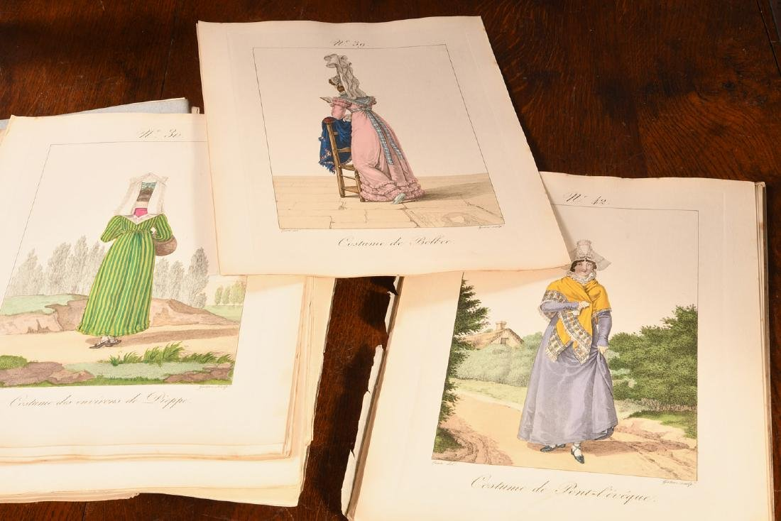 (4) Vols French Costumes Loose Color Plates 1925 - 6