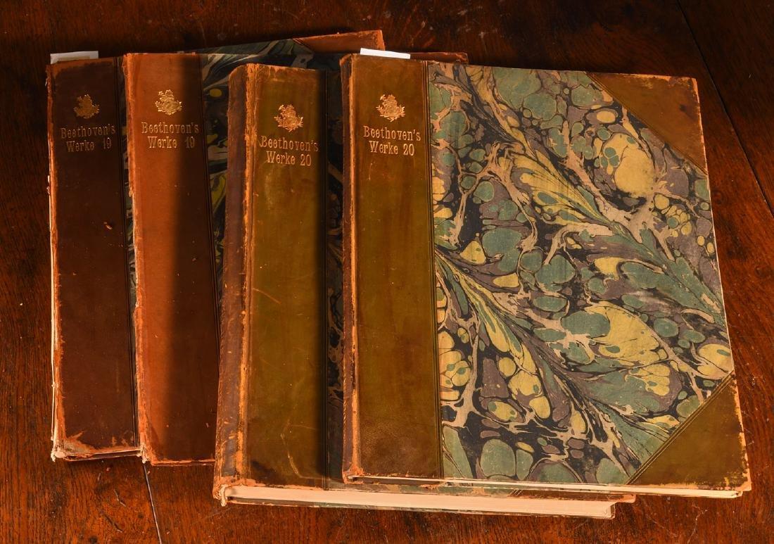 BOOKS: (4) Vols Beethoven's Werke 1880 Music