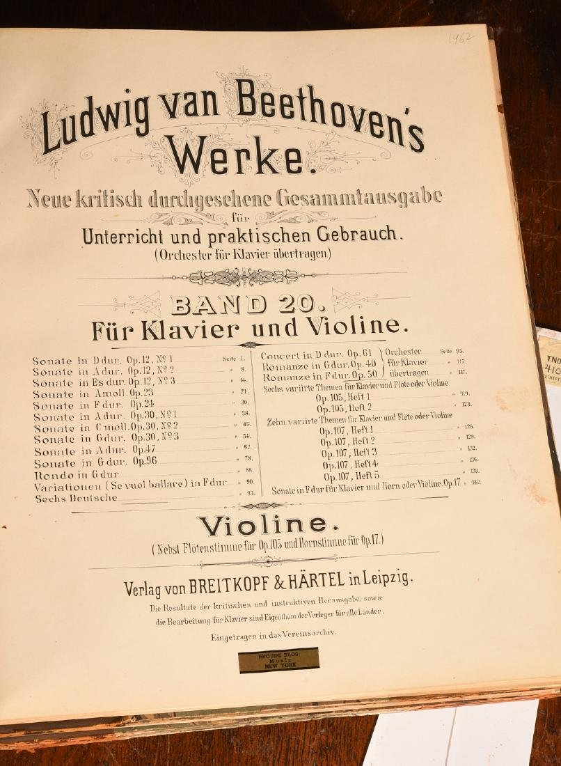 BOOKS: (4) Vols Beethoven's Werke 1880 Music - 3