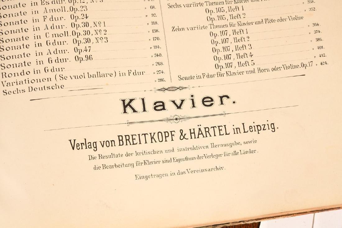 BOOKS: (4) Vols Beethoven's Werke 1880 Music - 5
