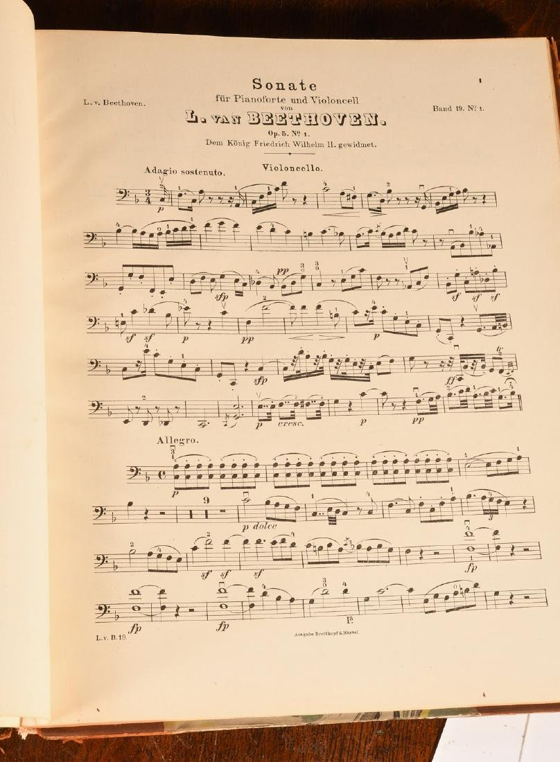 BOOKS: (4) Vols Beethoven's Werke 1880 Music - 6
