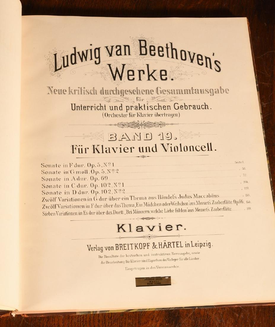 BOOKS: (4) Vols Beethoven's Werke 1880 Music - 7
