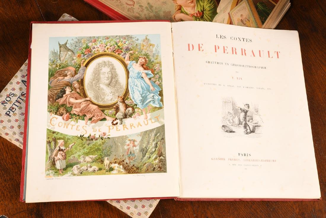 BOOKS: (3) Vols Illustrated French Childrens c1900 - 3