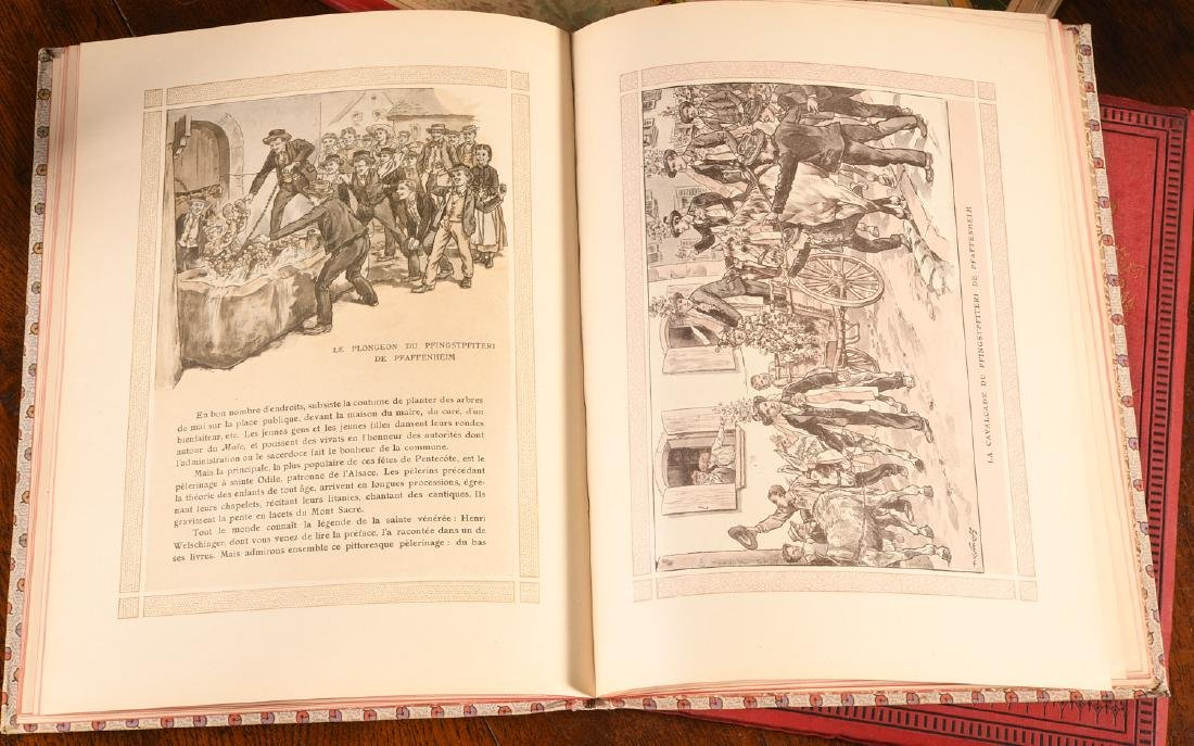 BOOKS: (3) Vols Illustrated French Childrens c1900 - 5