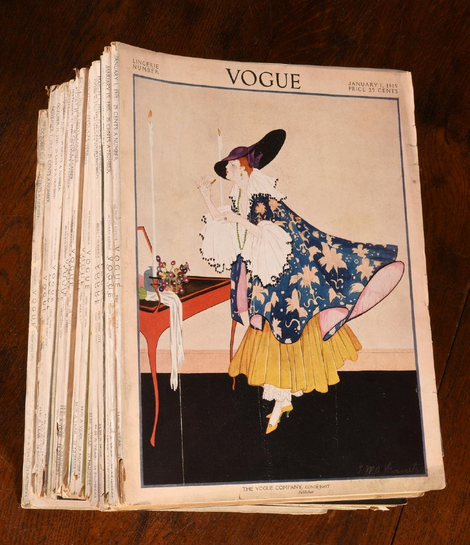 MAGAZINES: (22) Complete Issues VOGUE 1915 1917