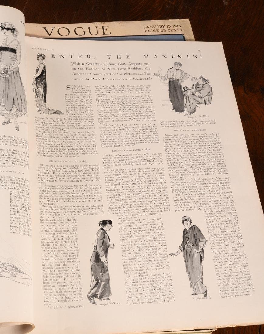MAGAZINES: (22) Complete Issues VOGUE 1915 1917 - 3